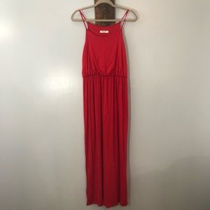 Red maxi dress by Mikey & Joey size Medium
